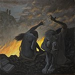 The Second Circle, oil painting by Warren Criswell, Francesca and Paolo in Hell, after Dante