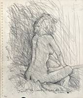 Janet, Her Back, pencil drawing by Warren Criswell